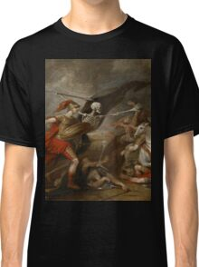 Joshua at the battle of Ai attended by Death by John Trunbul Classic T-Shirt