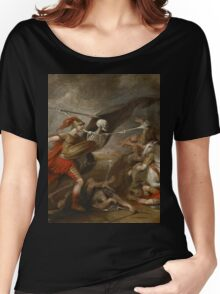 Joshua at the battle of Ai attended by Death by John Trunbul Women's Relaxed Fit T-Shirt