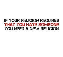 Anti Religion Quote Atheism Cool Political Photographic Print