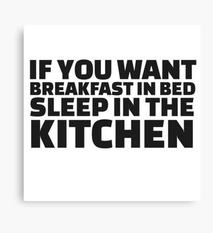 Breakfast Funny Joke Food Humor Random  Canvas Print