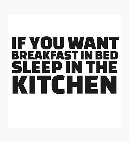 Breakfast Funny Joke Food Humor Random  Photographic Print