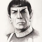 Spock Portrait Star Trek Art by OlechkaDesign