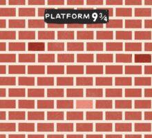 Platform 9 3/4 This Way! Sticker