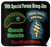 19th Special Forces Group Abn Poster