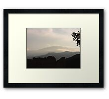 Garden of the Gods and Pike's Peak from Overlook Framed Print