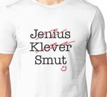 Genius Clever Smart Gone Wrong Funny Pun Unisex T-Shirt