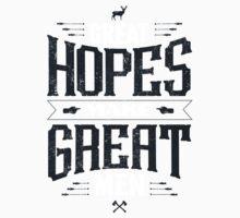 GREAT HOPES MAKE GREAT MEN Kids Tee