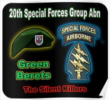 20th Special Forces Group Abn Poster
