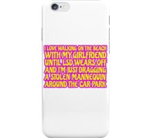 LSD Acid Trip Psychedelic Funny Quote Weird Humor iPhone Case/Skin