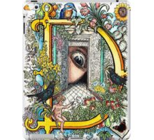 The Illustrated Alphabet Capital D (Fuller Bodied) iPad Case/Skin