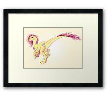 Raptor Fluttershy Framed Print