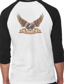 motorheart with wings Men's Baseball ¾ T-Shirt