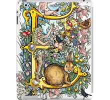 The Illustrated Alphabet Capital E (Fuller Bodied) iPad Case/Skin