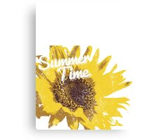 Summer Time Sunflower Canvas Print