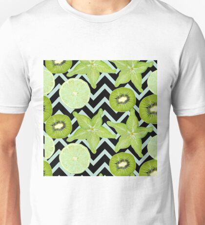 pattern with green fruits Unisex T-Shirt