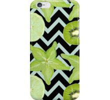 pattern with green fruits iPhone Case/Skin