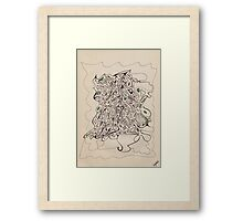 0706 - Lirum Larum with Green Points Framed Print