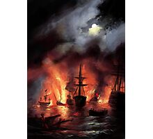 Sea Battle Photographic Print