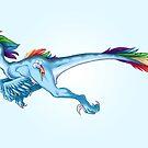Raptor Rainbow Dash by CherryGarcia