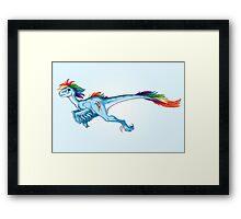Raptor Rainbow Dash Framed Print