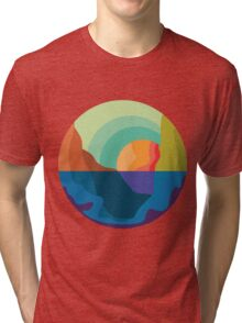 sunset in the valley Tri-blend T-Shirt