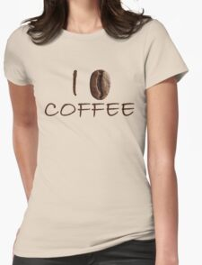 I Love Coffee Sign Coffee Seed Womens Fitted T-Shirt