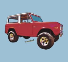Ford Bronco Classic from VivaChas Hot Rod Art Kids Tee