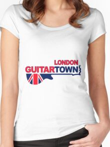 Music Town Women's Fitted Scoop T-Shirt