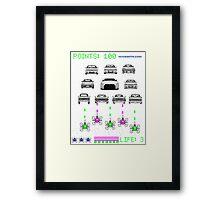 GTR INVADERS Framed Print