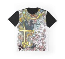 The Illustrated Alphabet Capital F (Fuller Bodied) from THE ILLUSTRATED MAN Graphic T-Shirt