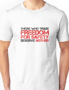 Freedom Government Political Quote Liberty Unisex T-Shirt
