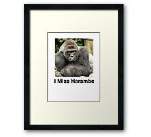 I Miss Harambe Framed Print