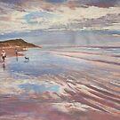 Torquay Back Beach by Lynda Robinson