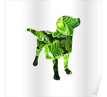 Green Plant Dog Poster
