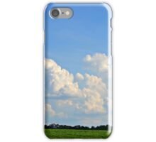 Open Field with Clouds iPhone Case/Skin
