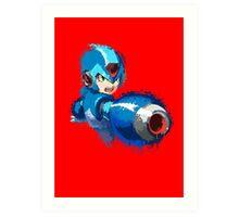 Megaman (Rockman) Splash Paint Design Art Print