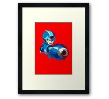 Megaman (Rockman) Splash Paint Design Framed Print