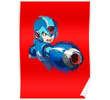 Megaman (Rockman) Splash Paint Design Poster