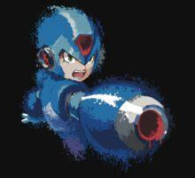 Megaman (Rockman) Splash Paint Design Kids Clothes