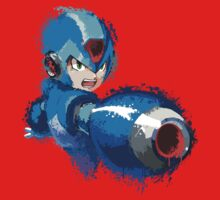 Megaman (Rockman) Splash Paint Design T-Shirt