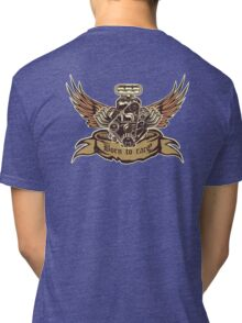 Cartoon Turbo Engine with wings Tri-blend T-Shirt