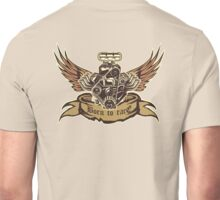 Cartoon Turbo Engine with wings Unisex T-Shirt