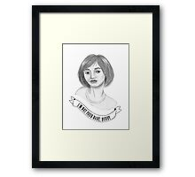 I'm Not Your Babe - Fabienne Framed Print