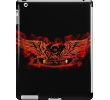 Motor with wings at the flame iPad Case/Skin