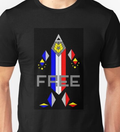 Crayon Robot Libre Unisex T-Shirt