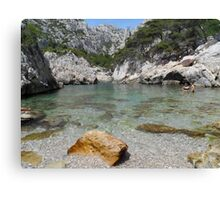 Calanque sea Canvas Print