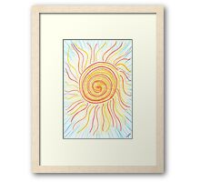 0710 - The Sun Shining in Waves Framed Print