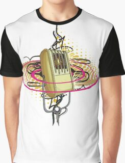 Vintage Microphone Graphic T-Shirt