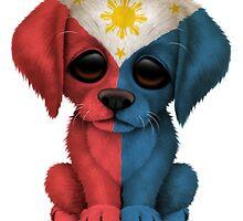 Cute Patriotic Filipino Flag Puppy Dog by Jeff Bartels