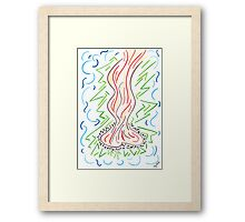 0713 - Meditating at the Bonfire Framed Print